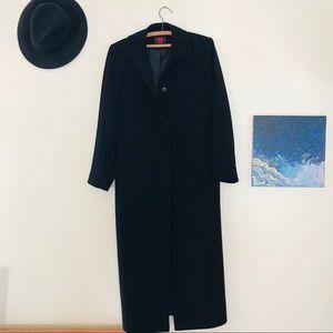 Elegant long black jacket